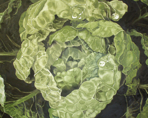 Painting of Cabbage at the Heider Center Art Gallery