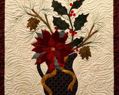 Quilted Christmas Poinsettia at the Heider Center Art Gallery