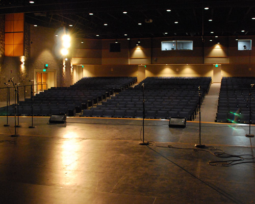 View from the stage at the Heider Center in West Salem, WI